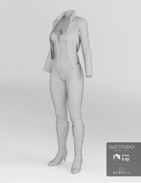 Vigilante Outfit pour Genesis 3 Femme