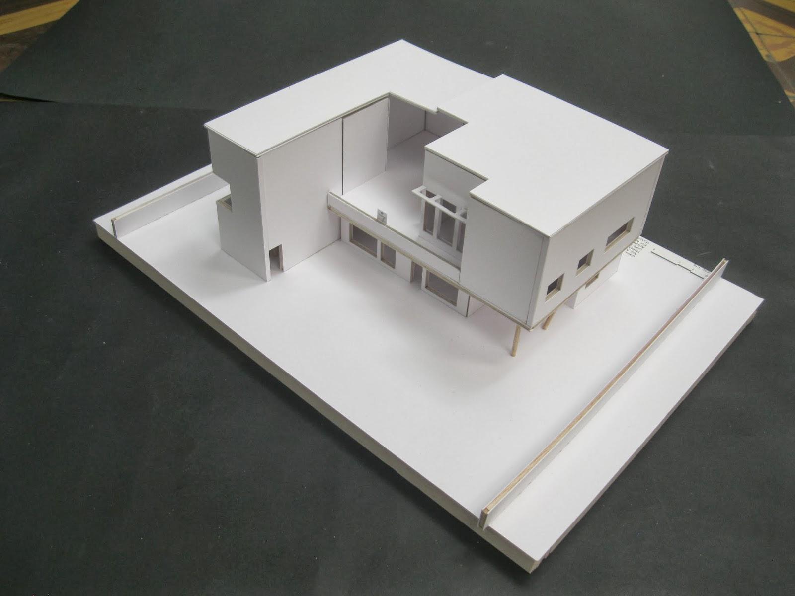 Historia de la arquitectura moderna casa estudio alvar for Casa moderna maqueta