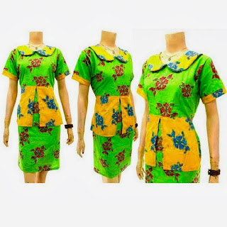 DB 3122 Mode Baju Dress Batik Modern Terbaru 2013