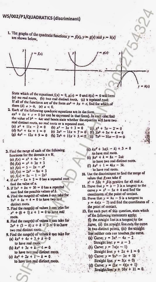 math worksheet : muhammad ali khan official  first three worksheets of as level  : P1 Maths Worksheets