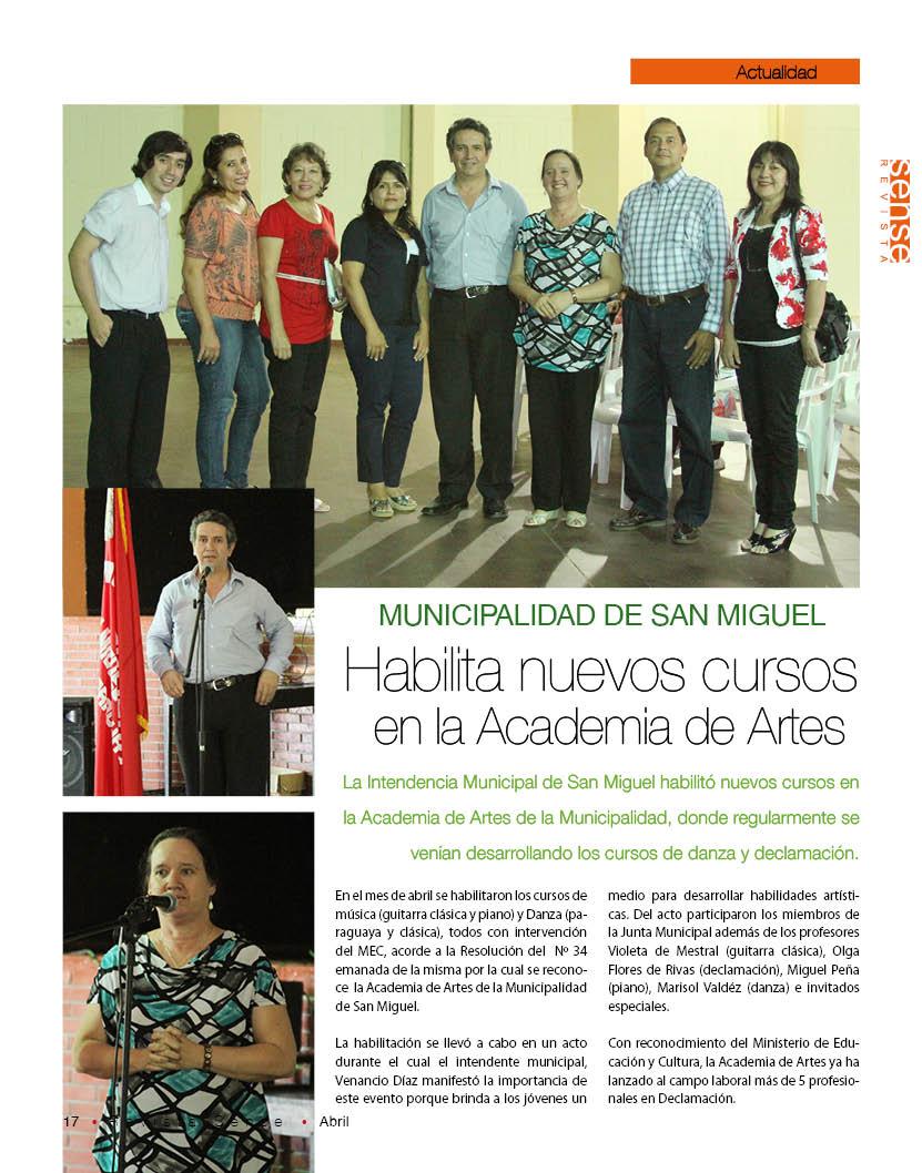 Revista sense municipalidad de san miguel habilita for Municipalidad de avellaneda cursos