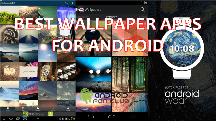 Top 5 Best Wallpaper Apps For Android Smart Phones & Tablets Free APK Download