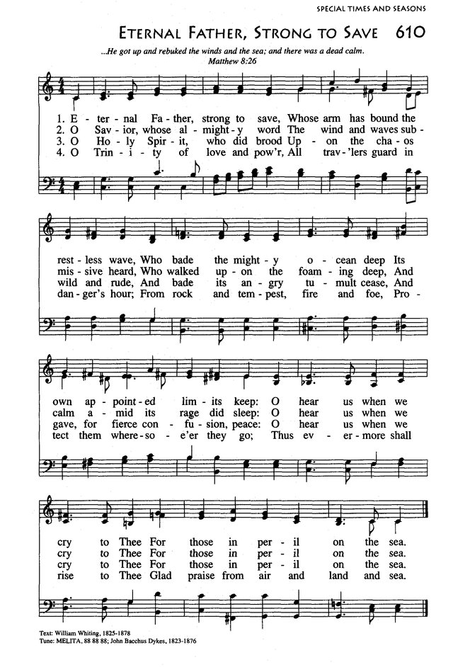 Lyric marine corps hymn lyrics : Songs of Praises: Eternal Father, Strong to Save (Navy Hymn)