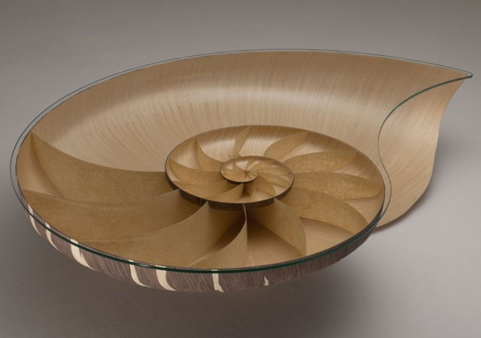 UK Furniture Craftsman Marc Fish Has Created Two Table Designs Inspired By  The Nautilus Shell. His First, Nautilus I, Was Designed And Crafted In  2010 2011 ...