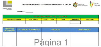 PROGRAMA NACIONAL D LECTURA
