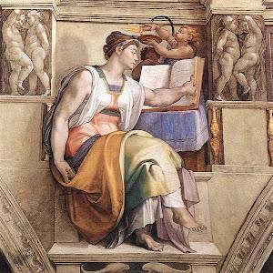 Sibilla Eritrea (a detail), by Michelangelo