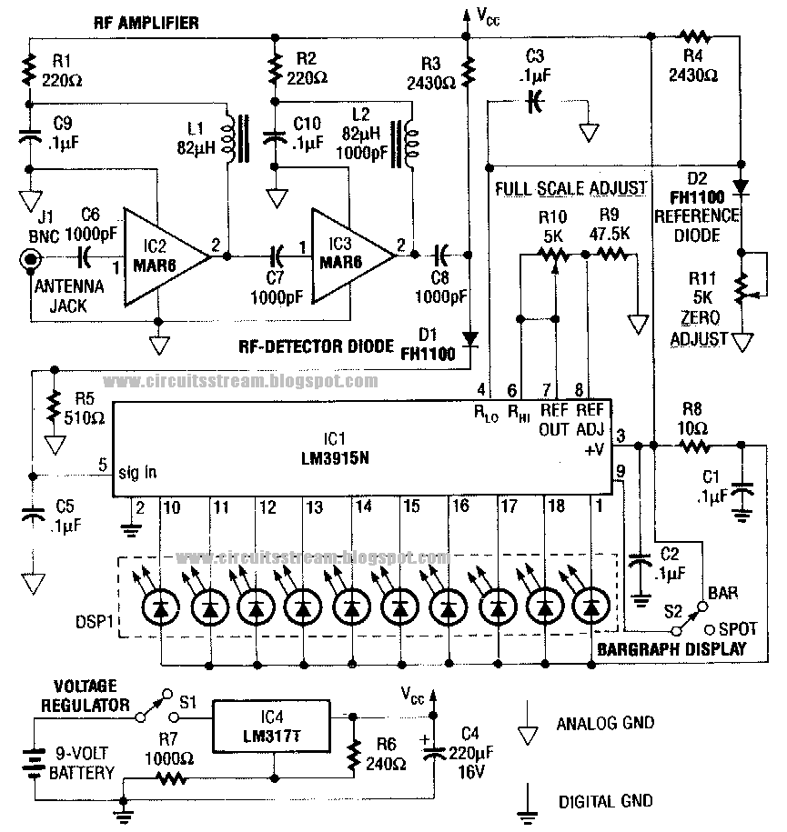 simple bug detector circuit diagram