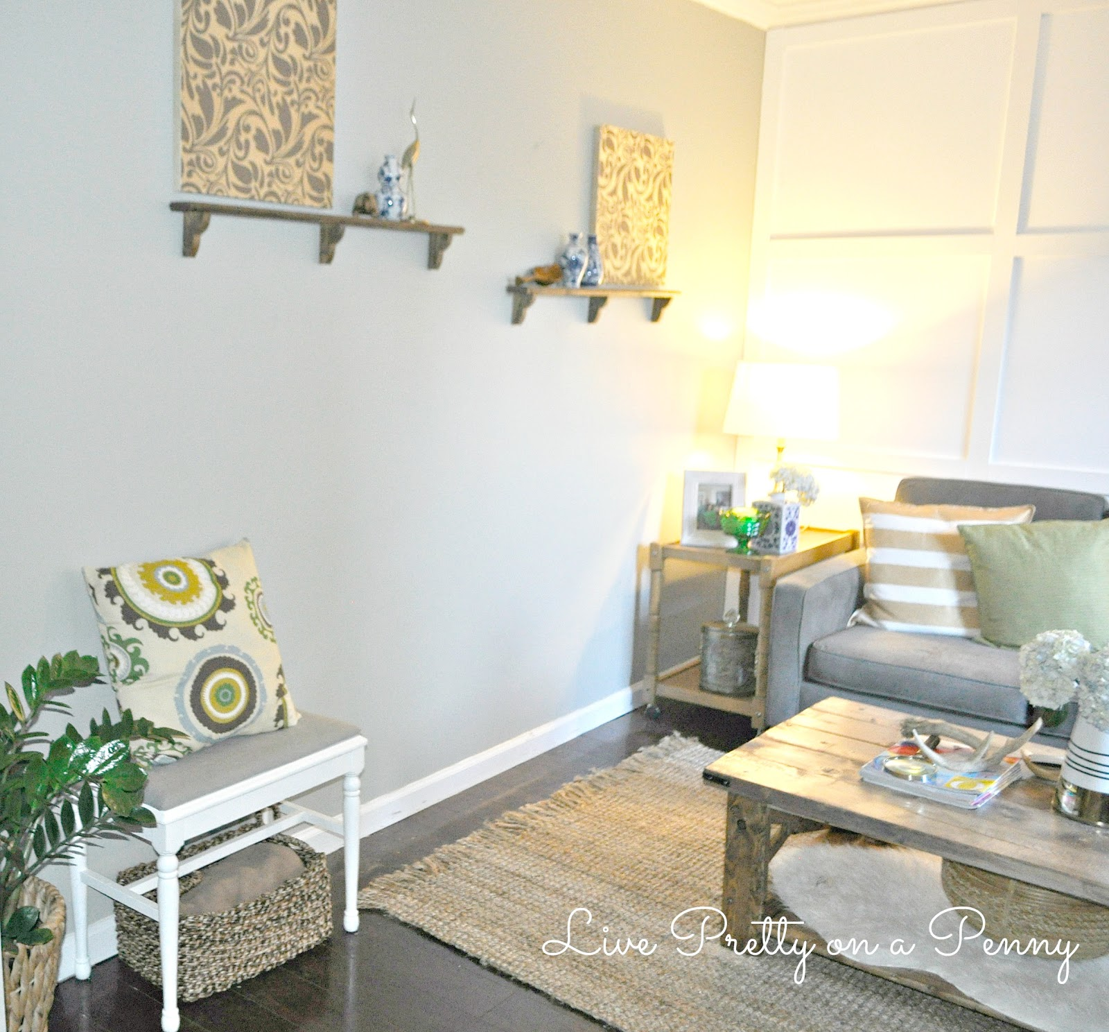 My Living Room Reveal: Before and After | Live Pretty on a Penny