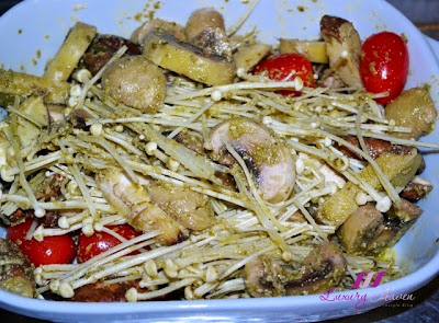 tantalizing italian mixed mushrooms with cherry tomatoes