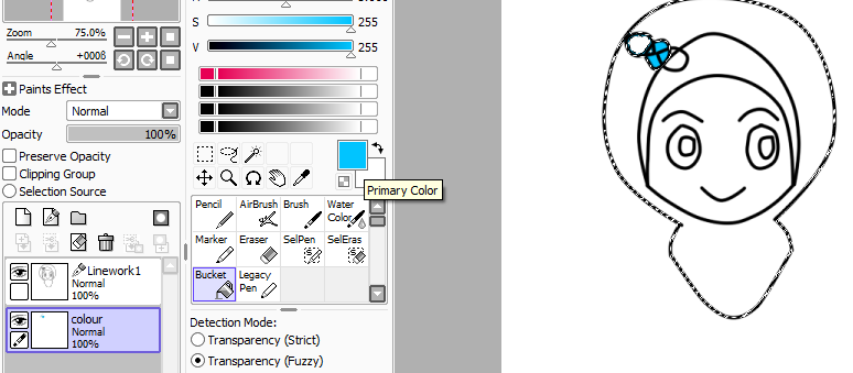 How To Adjust Layer Colour In Paint Tool Sai