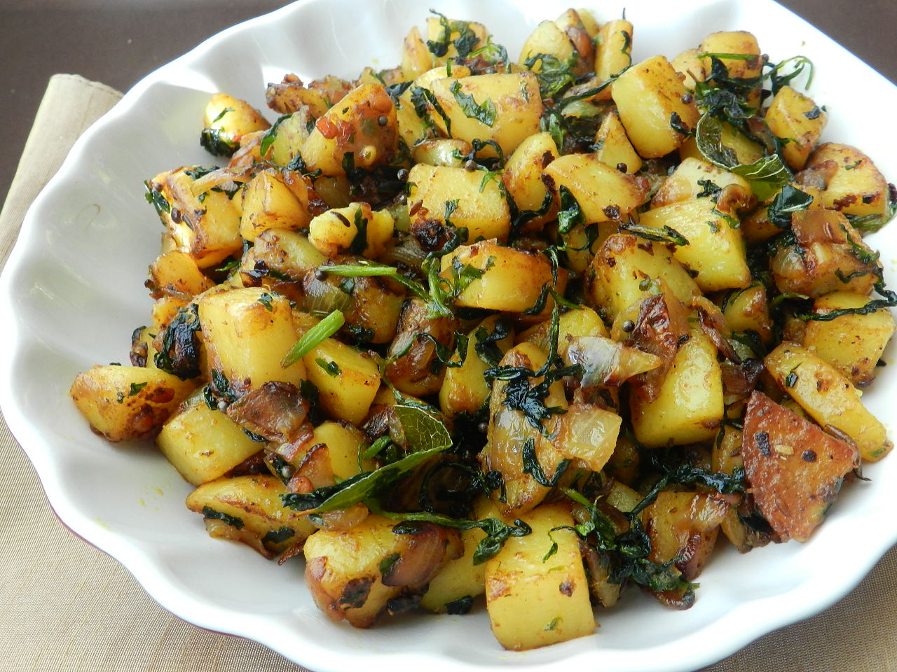 Fenugreek Seeds With Potatoes Recipe — Dishmaps