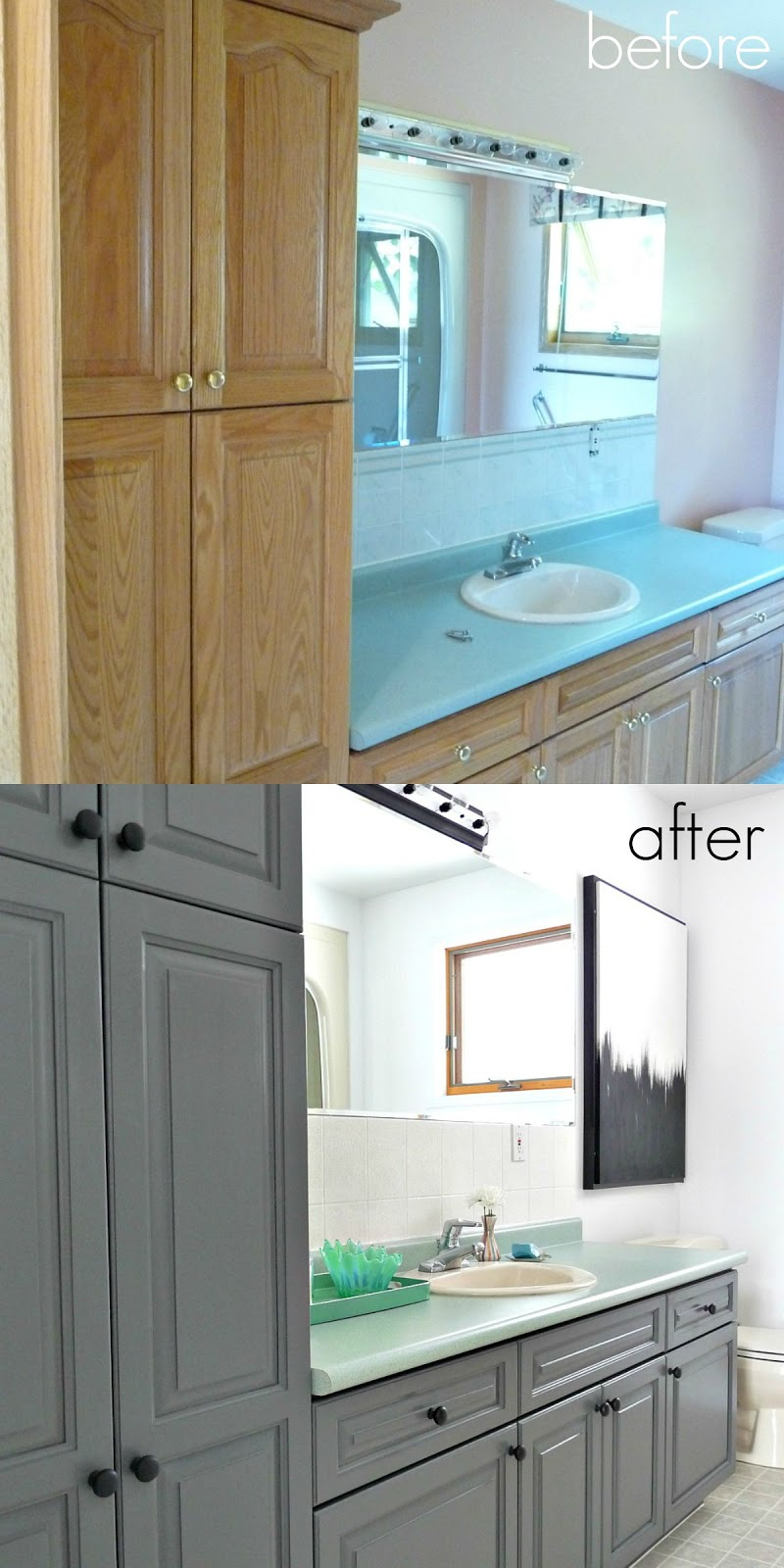 A Budget-Friendly Bathroom Makeover Using Paint | Dans le Lakehouse