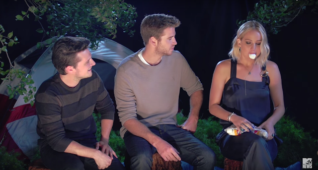 hunger games mockingjay part 2 camp mockingjay mtv video truth or dare hilarious jennifer lawrence josh hutcherson