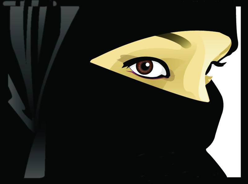 gadis ber niqab