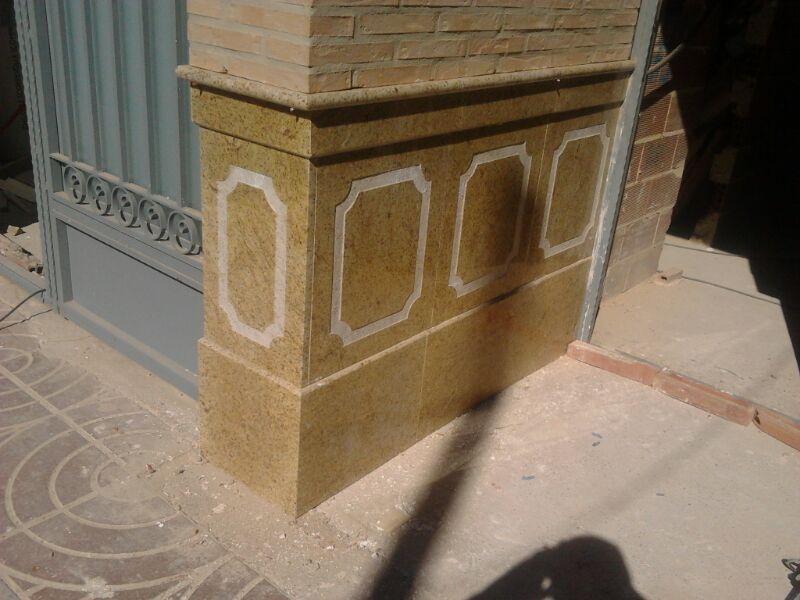 Marmoles vedat s l u fachada granito importado amarillo for Granito importado colores