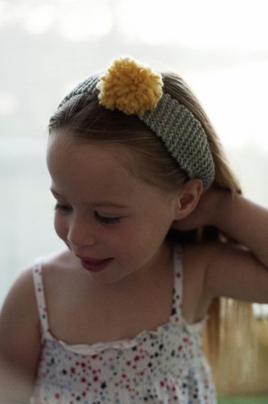 Rust Sunshine Pom Pom Headband