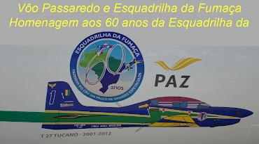 Vôo Passaredo e Esquadrilha da Fumaça em homenagem aos 60 anos da EDA