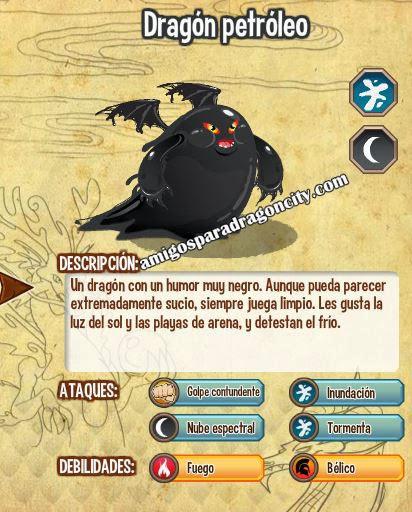 caracteristicas del dragon petroleo