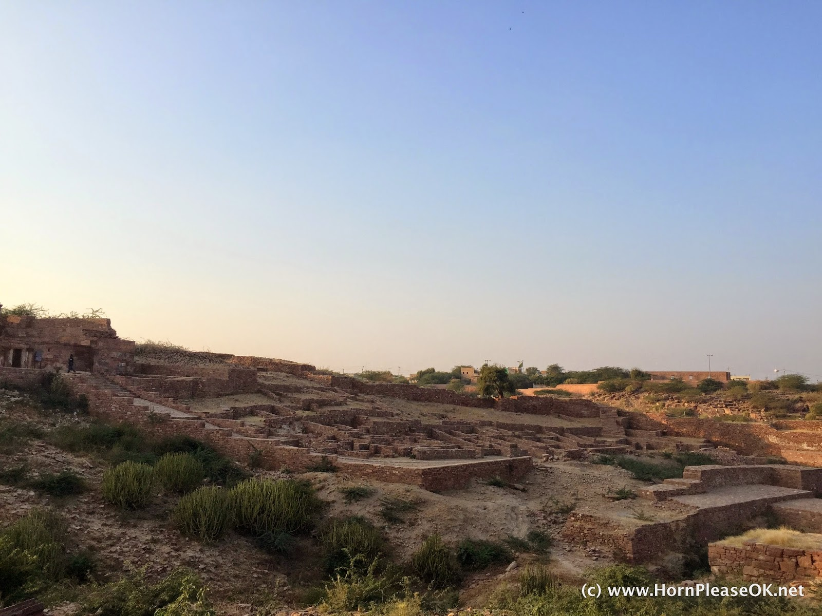 Ruins of the old fort at Mandore