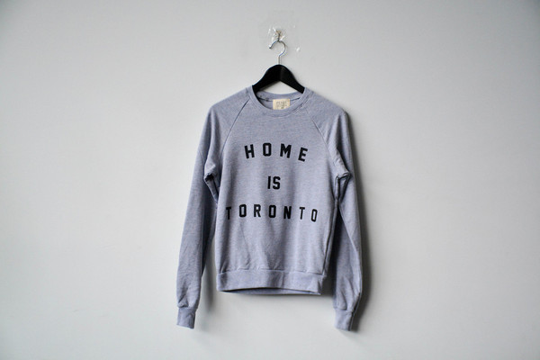 Home is Toronto sweatshirt by Peace Collective at Fitzroy Boutique
