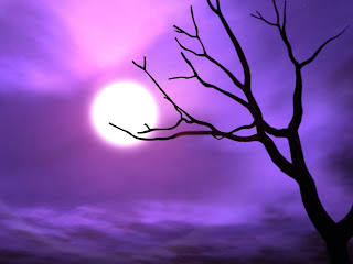 Purple Sky Dark Gothic Wallpaper