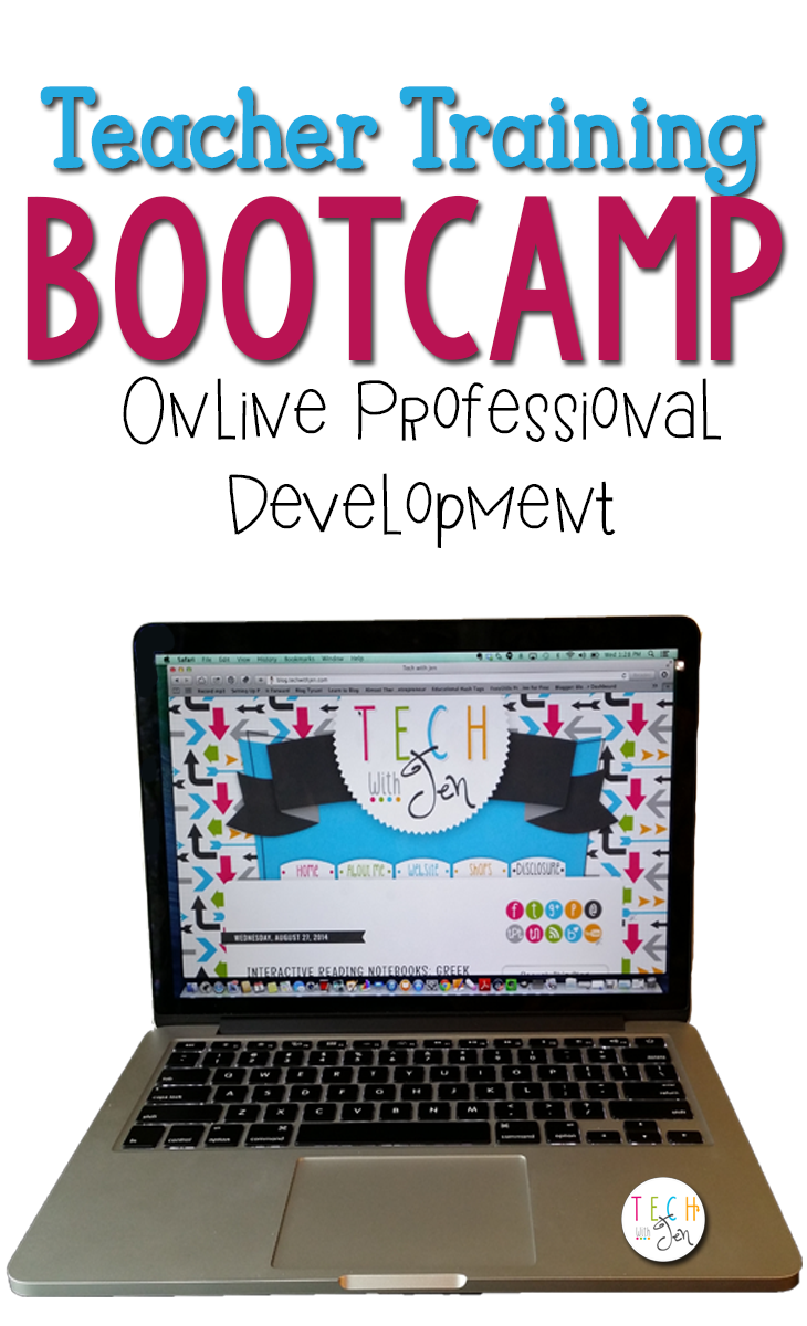 Online professional development from Tech with Jen.