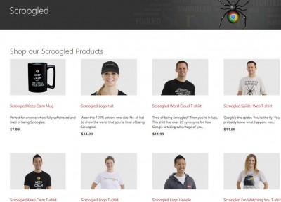 Microsoft Luncurkan Merchandise Anti-Google Berlogo Scroogled