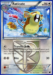Raticate Plasma Freeze Pokemon Card