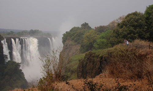 View from the Victoria Falls Rainforest, Victoria Falls, Zimbabwe