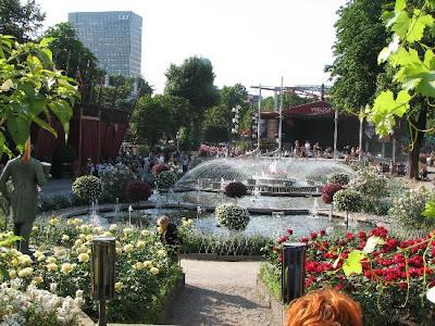 Los jardines de Tivoli en Copenhague
