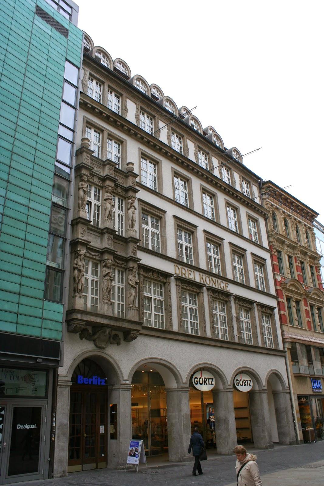 """Das Haus """"Drei Könige"""" in der Leipziger Petersstrasse"""