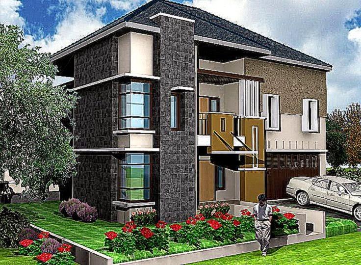 Aneka Gambar Rumah Minimalis 2 Lantai   Rumah minimalis 2 Lantai