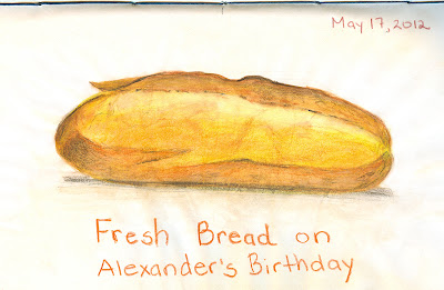 Bread drawing by ©Ana Tirolese