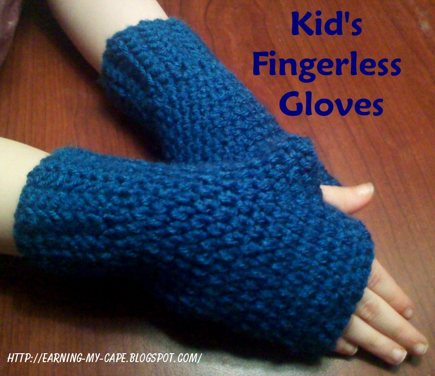Crocheting Fingerless Gloves : Earning-My-Cape: Fingerless Gloves for Kids {free crochet pattern}