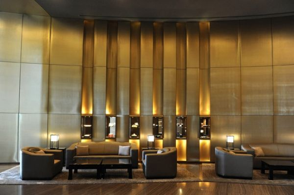 The famous hotels in dubai armani hotel dubai for Armani hotel dubai design