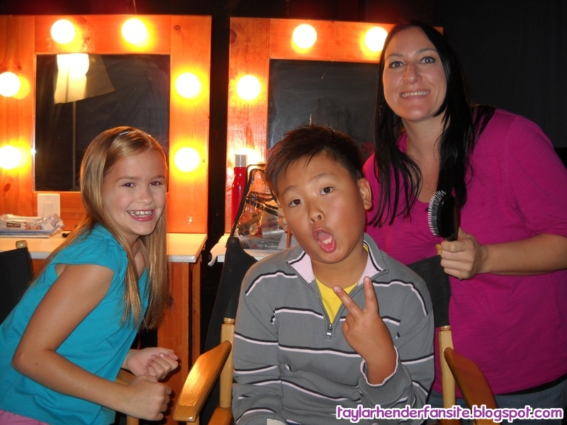 Taylar Hender Fansite Working Behind The Scenes Images