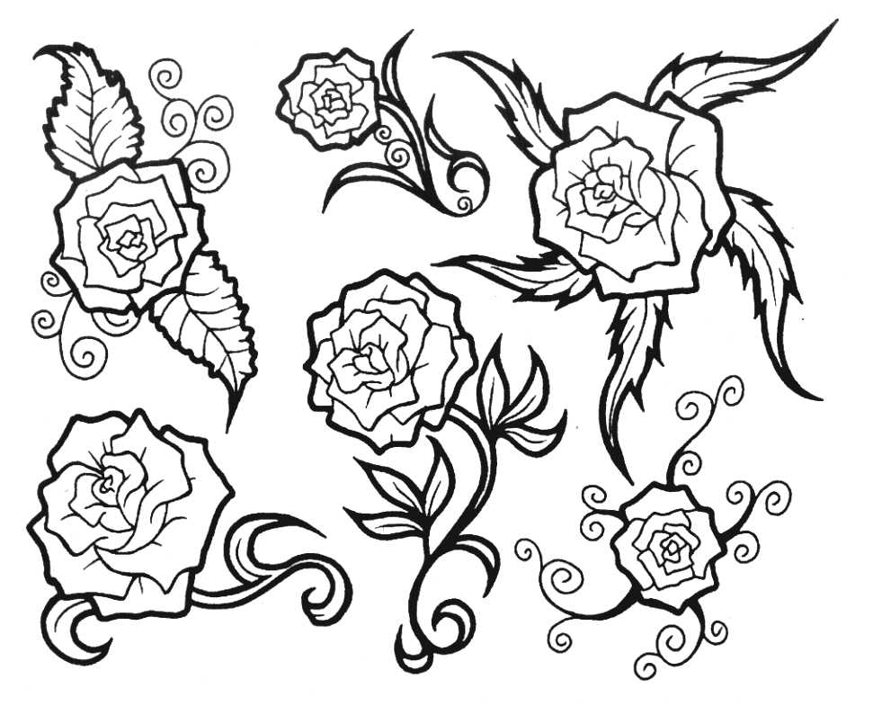 Pin rose sketches tattoo designs for women tribal on pinterest picture