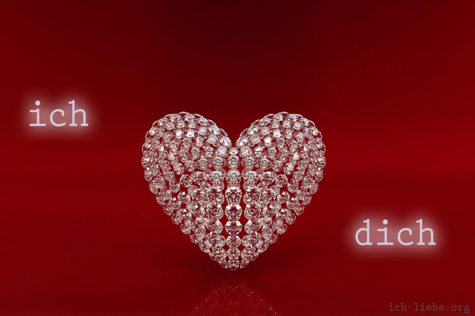 ich liebe dich, liebesbilder, herz, schmuck. diamant