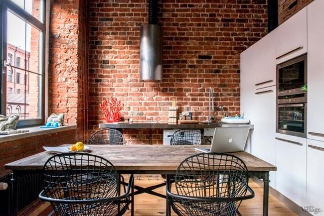 Estilo rustico loft rustico en moscu rustic style loft for Loft rustico