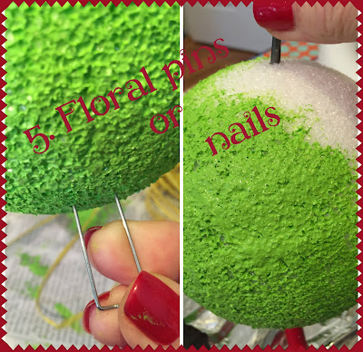 5. Floral pins or nails