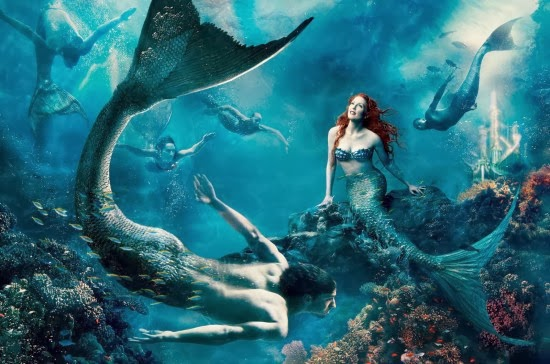 Julianne Moore as Ariel from The Little Mermaid - Annie Leibovitz - Disney Dream Portraits