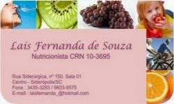 LAIS FERNANDA DE SOUZA - NUTRICIONISTA