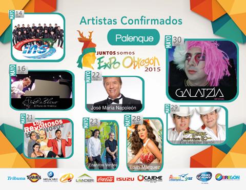 artistas palenque expo obregon 2015