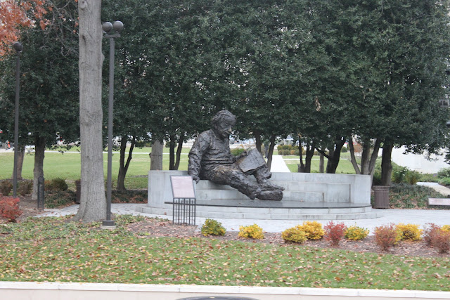 The statue of Albert Einstein in Washington DC, USA