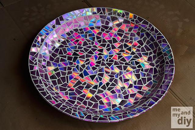 artystyczny recycling z plyt cd