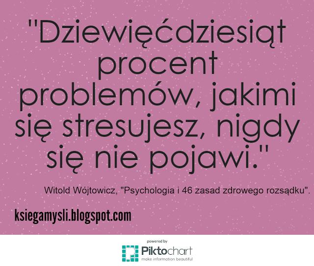Dziewięćdziesiąt procent problemów, jakimi się stresujesz, nigdy się nie pojawi.