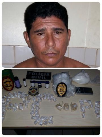 Polícia Civil cumpre mandado de prisão preventiva contra acusado de tráfico de drogas em Breves