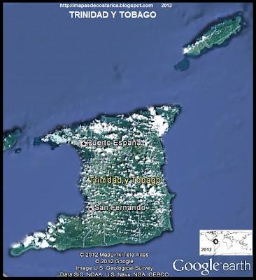 TRINIDAD Y TOBAGO, Mapa de TRINIDAD Y TOBAGO, Google Earth (dia)