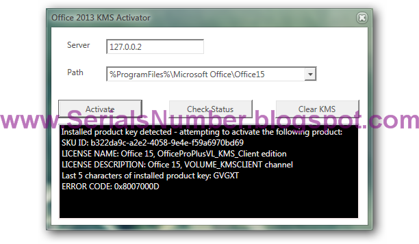 kms activator microsoft office 2013