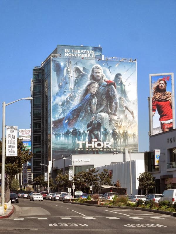 Thor Dark World movie billboard